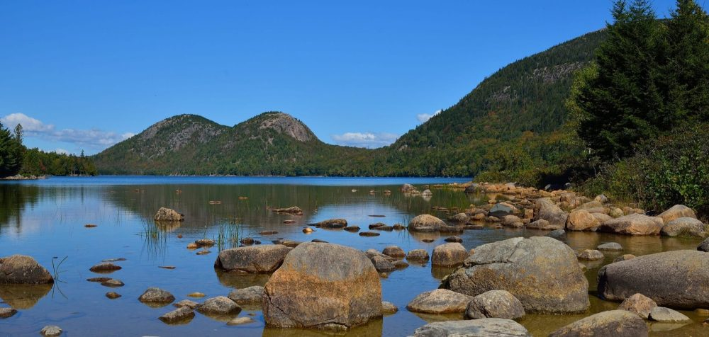 Visit Acadia National Park to see the Bubbles and Jordan pond